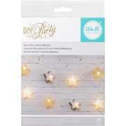 DIY Party Light Covers 12/Pkg-3D Star Lanterns; Gold, Silver & Whi