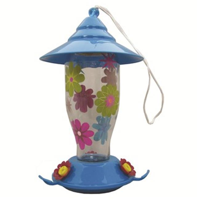 Friends Of Flight CEBHB0260BR 17 oz. FF Haven Aqua Glasshummingbird Feeder