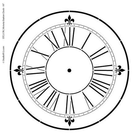 Victoria Station Clock Stencil - 10 inch Clock