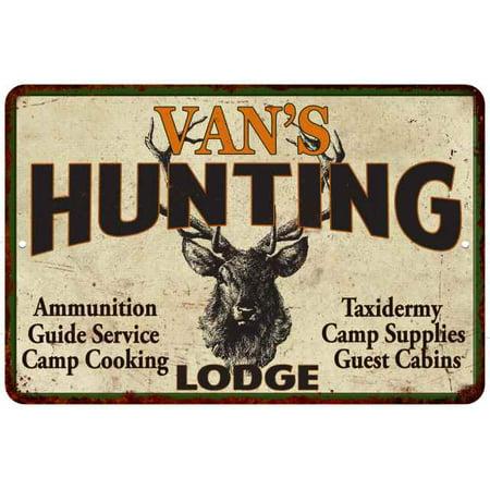VAN'S Hunting Lodge Personalized Metal Sign 8 x 12 High Gloss Metal 208120015487](Personalized Vans)