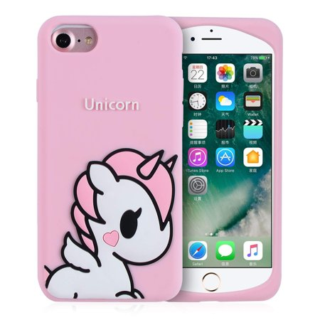info for c5411 da55e Angel Unicorn Case for iPhone SE/5S/5C/5 Cover,Cute Kids Girls Teens  Cartoon Shell,3D Pink Soft Silicone Animal Kawaii Character Unique Rubber  ...