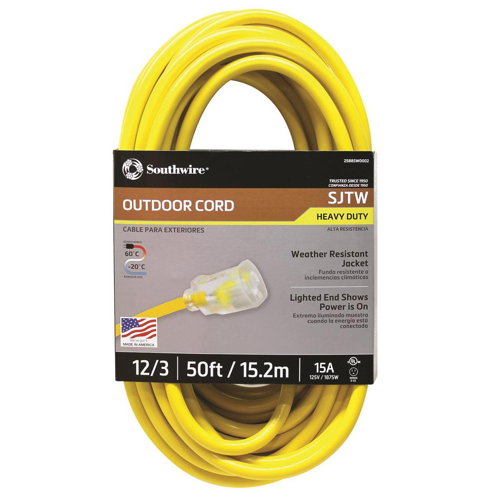 Eagle 15 Foot Air Conditioner and Appliance Extension Cord 15 AMP 125 Volt New