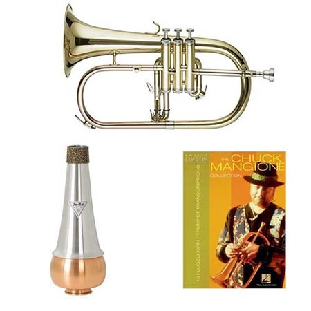 Band Directors Choice Bb Student Flugelhorn w/Mute & Chuck Mangione Book ()