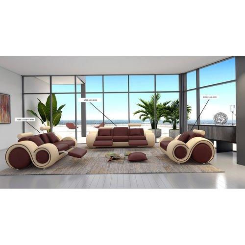 Hokku Designs Hematite Leather Loveseat by