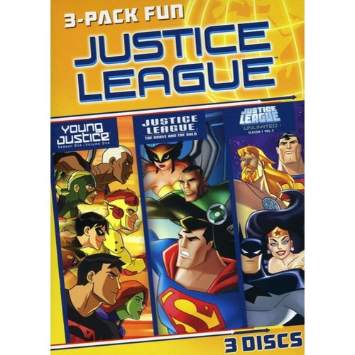 Justice League: 3 Pack Fun - Young Justice: Season 1, Vol.1 / Justice League: The Brave And The Bold / Justice League Unlimited: Joining Forces - Season 1, Vol.2 (LIMITED)