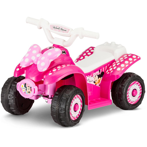 Disney Minnie 6v Battery Powered Ride On Quad Walmart Com