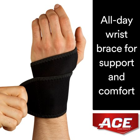 ACE Brand Wrist Support, Adjustable, Black,