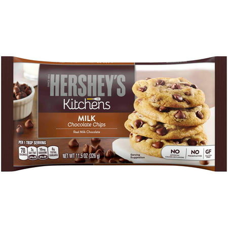 (2 Pack) Hershey's, Milk Chocolate Baking Chips, 11.5 (Toll House Semi Sweet Chocolate Chips Ingredients)
