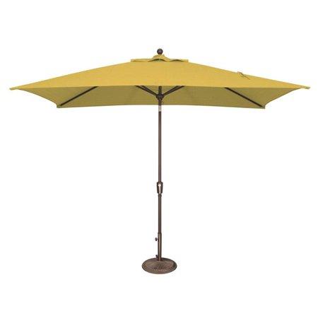 Rectangle Lemon (SimplyShade SSUM92-6X10RT00-D2402 Catalina 6 ft. x 10 ft. Rectangle Solefin Push Button Tilt Umbrella  Lemon )