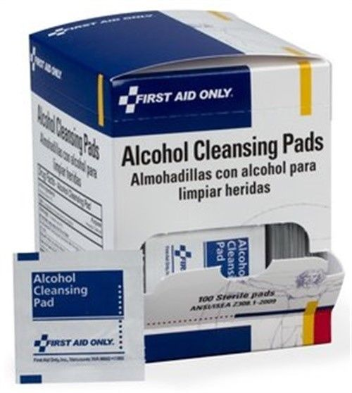 H305 Alcohol Cleansing Pads1 00/Box(H-305), First Aid Only, EACH, BOX, 100 per b