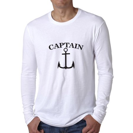 Marine Boat Captain Anchor Sailor Graphic Men's Long Sleeve - Captain Stubing Love Boat