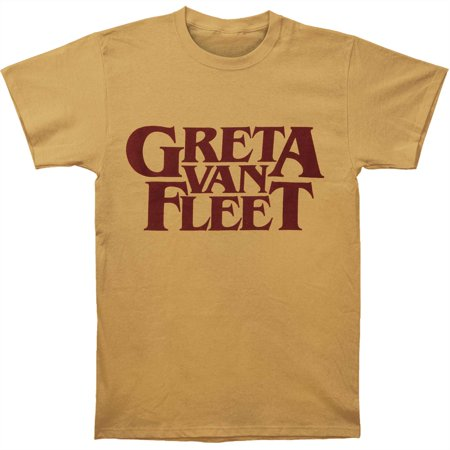 Greta Van Fleet Men's  Old Gold Logo T-shirt Gold (Greta Van Fleet Highway Tune Guitar Tab)