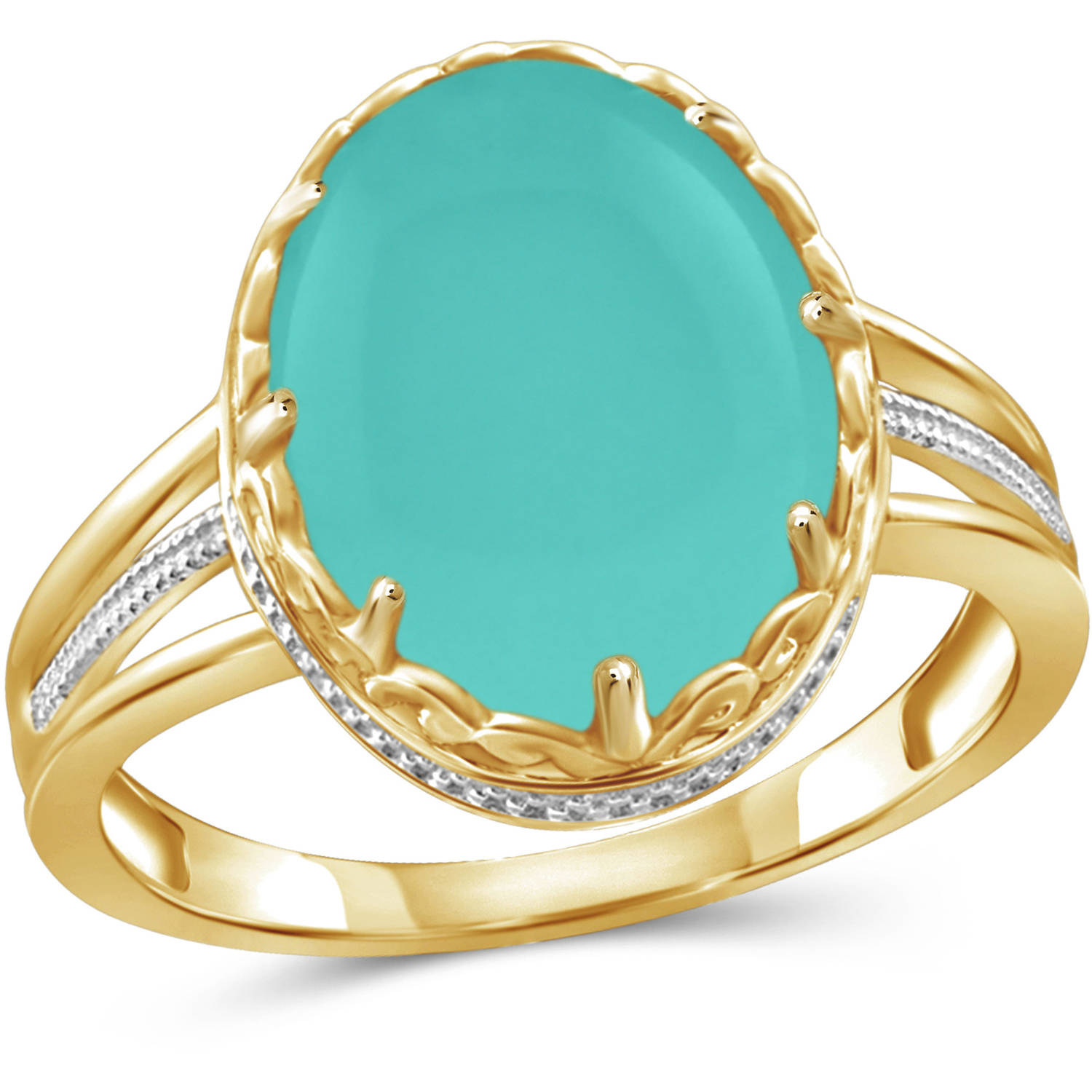 JewelersClub 6-3 4 Carat T.G.W. Chalcedony 14kt Gold over Silver Fashion Ring by JewelersClub