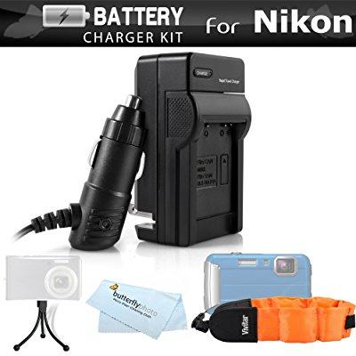 battery charger kit for nikon coolpix aw120, aw110, aw130