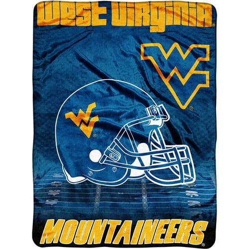 "NCAA Overtime 60"" x 80"" Blanket, West Virginia"