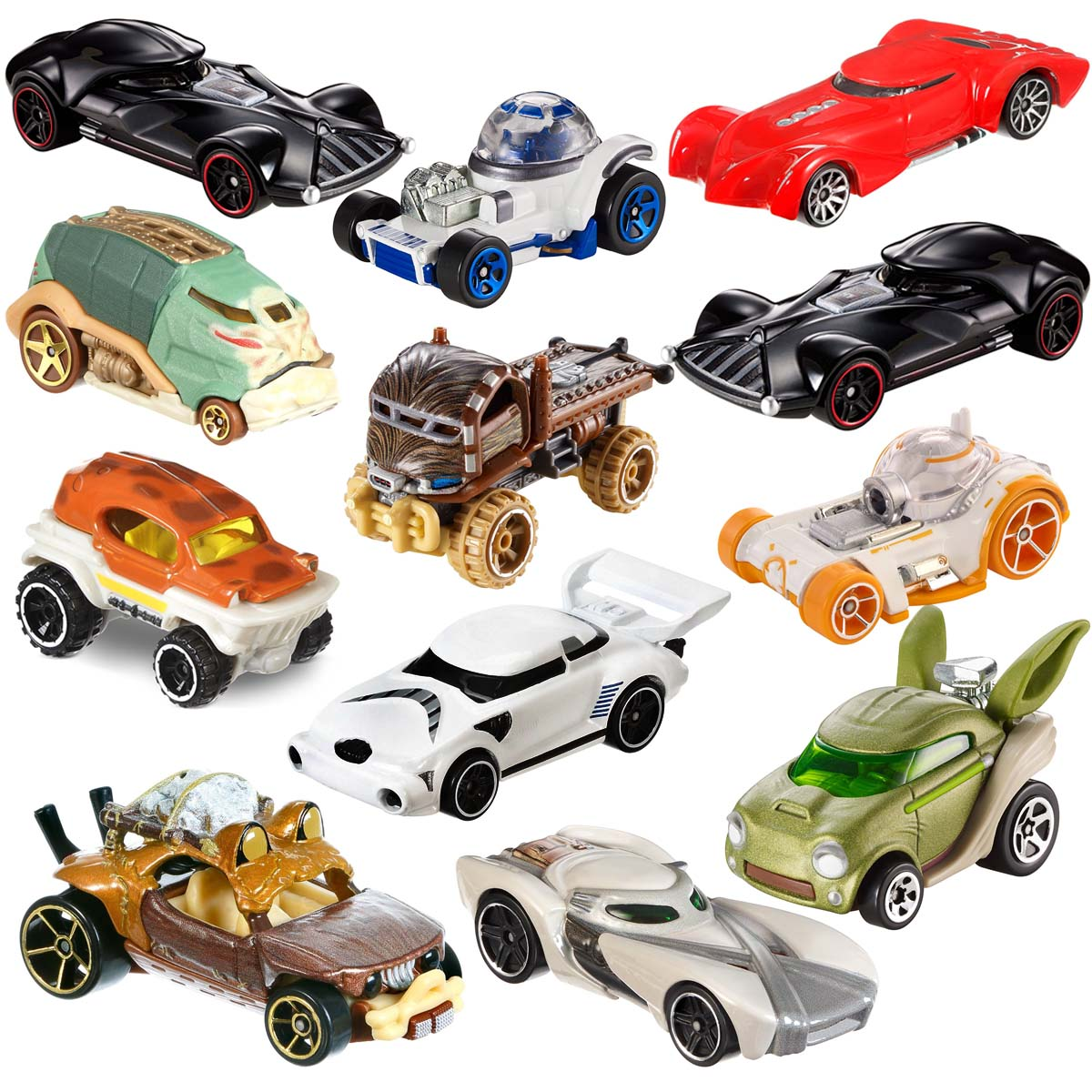 Hot Wheels (Set Of 12) Die Cast Star Wars Toys Characters Cars Action Figure Toy