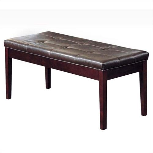 ACME Furniture Britney Bench in Espresso and Walnut