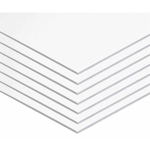 "Foam Board, 20"" x 30"", 3/16"", White, Pack of 10"