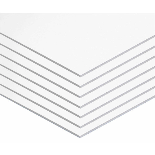 "Foam Board, 20"" x 30"", 3/16"", White, Pack of 10"