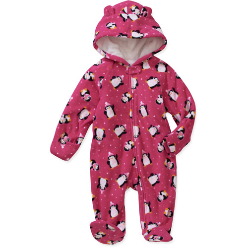 Newborn Girls' Fleece Footed Pram