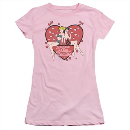 Archie Comics-Archies Girls - Short Sleeve Junior Sheer Tee, Pink - Extra Large - image 1 of 1