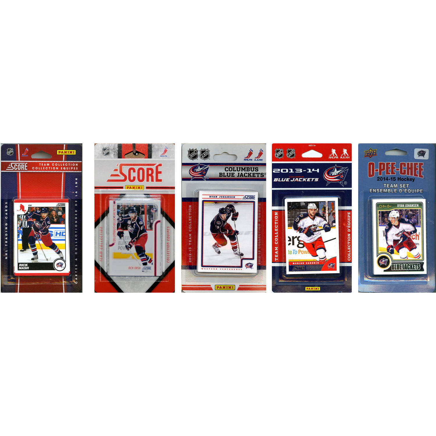 C&I Collectables NHL Columbus Blue Jackets 5 Different Licensed Trading Card Team Sets