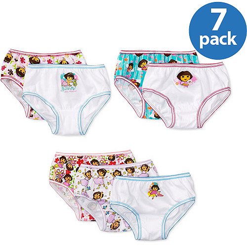 Nickelodeon Girls' Dora the Explorer Panties, 7-Pack