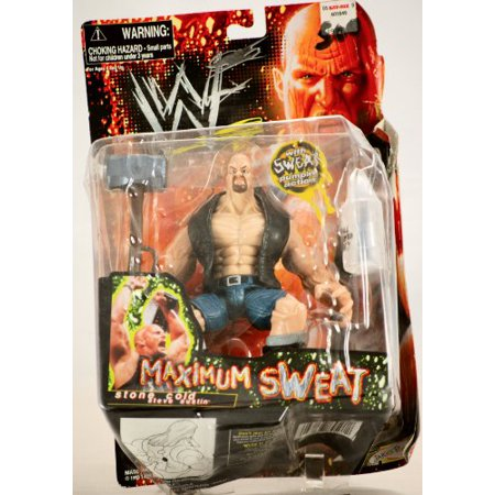 WWF Maximum Sweat Stone Cold Steve Austin by Jakks Pacific Inc (Stone Cold Steve Austin Hall Of Fame Figure)