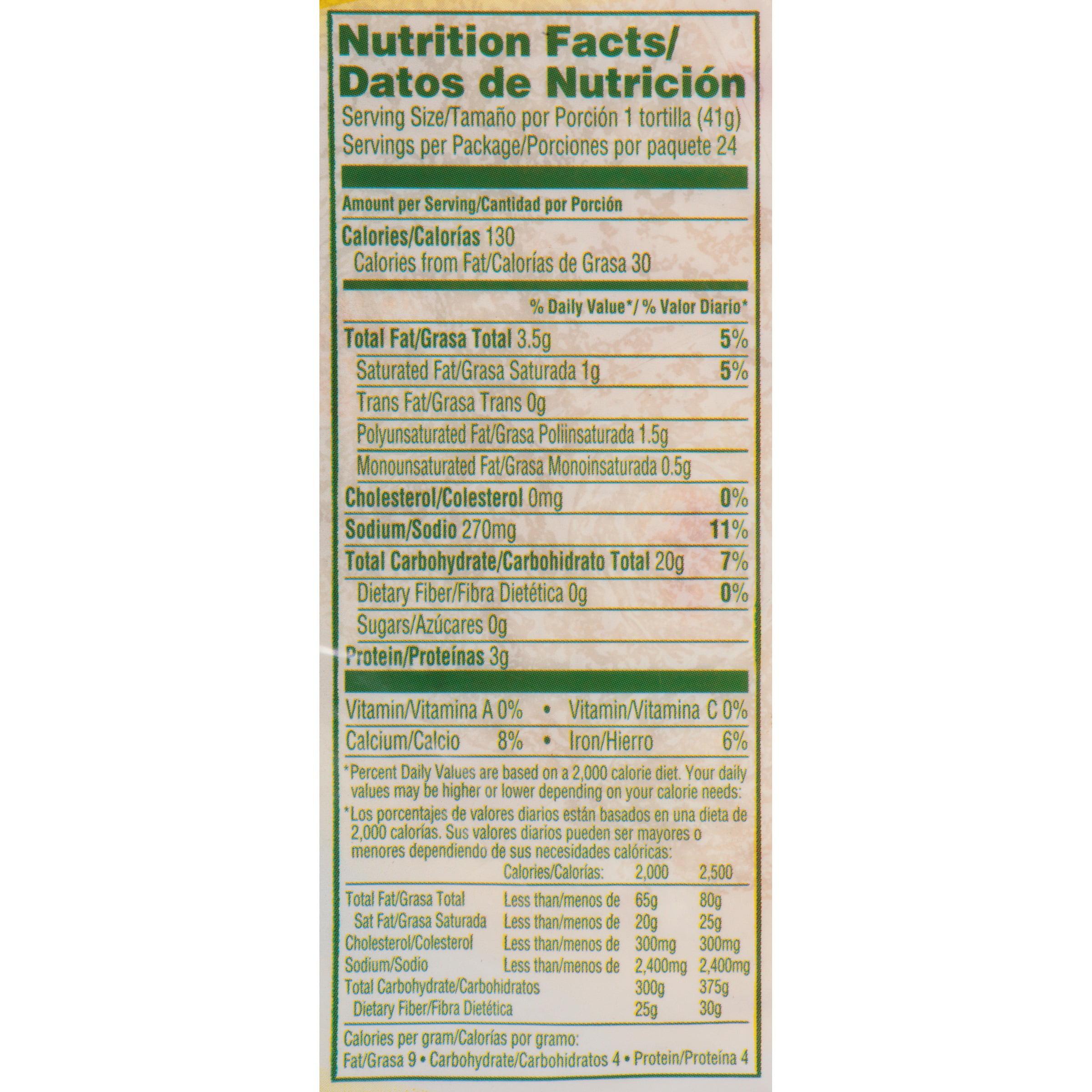 Guerrero Riquisimas Soft Taco Flour Tortillas 24 Count Walmart Com Walmart Com