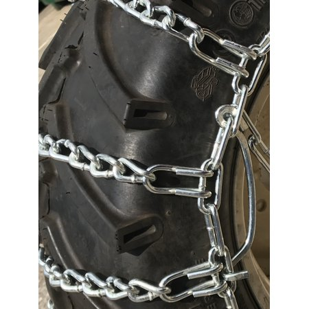 Snow Chains 5.30 x 6, 5.30 6 Tractor Tire Chains w/Spring Tensioners - image 1 de 5