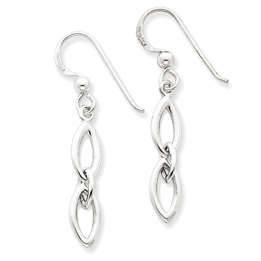 925 Sterling Silver Multi Oval Dangle Earrings