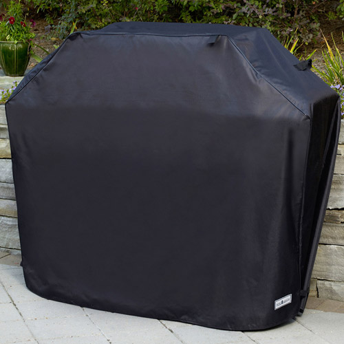"Sure Fit 65"" Large/Wide Premium Grill Cover, Black"