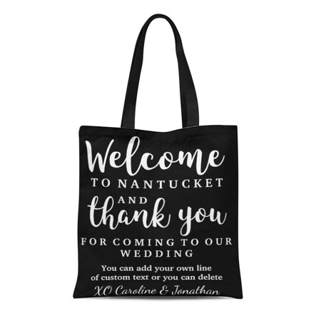 SIDONKU Canvas Tote Bag Destination Wedding Welcome Thank You Hotel Favor Out Town Reusable Handbag Shoulder Grocery Shopping Bags - Hotel Welcome Bags