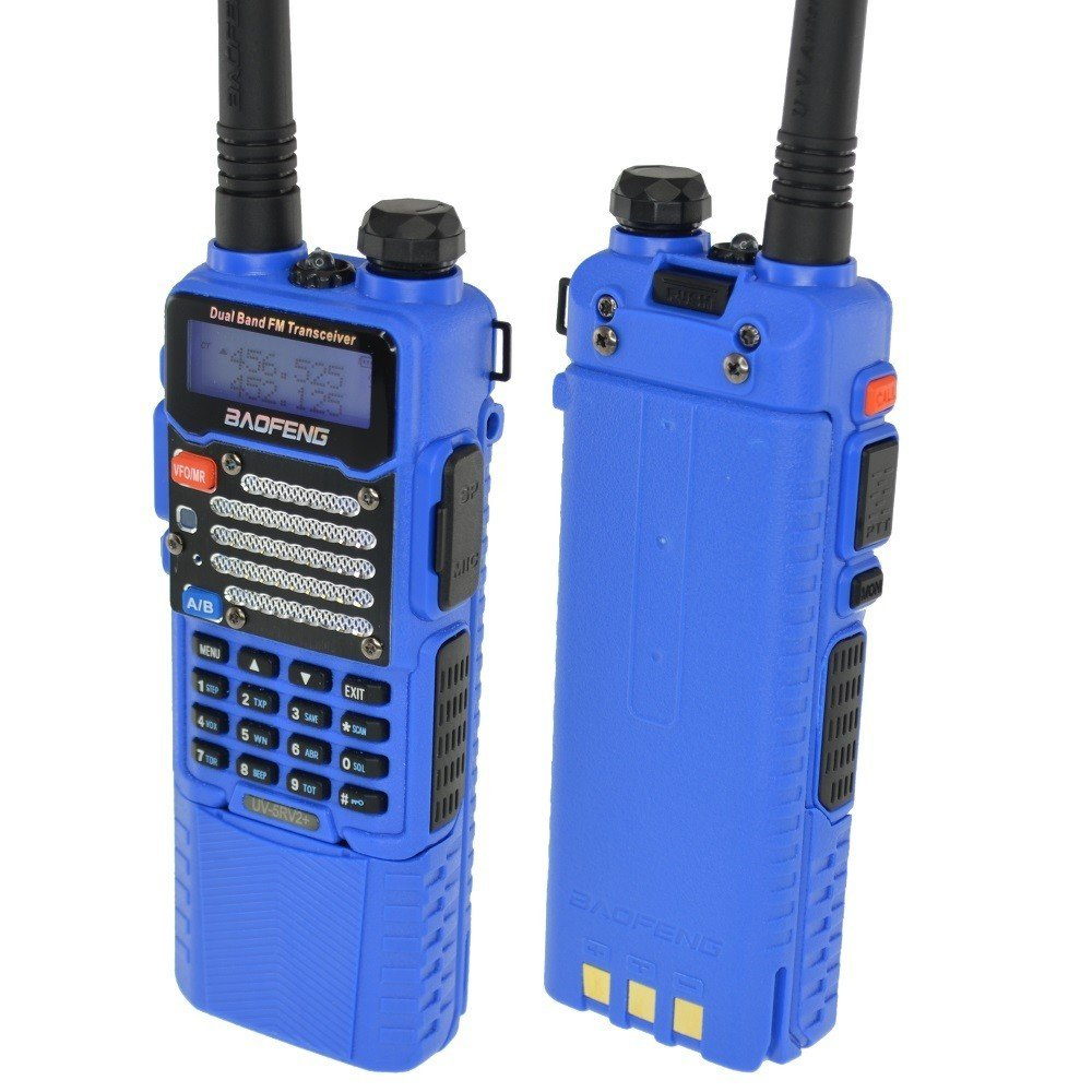Baofeng Blue BF-F9 V2+ HP 8Watt Tri-Power (1/4/8w) w/ 3800mah (USA Warranty) Dual-Band 136-174/400-520 MHz FM Ham Two-way Radio Transceiver - With Extended Battery, Antenna, Charger, and More