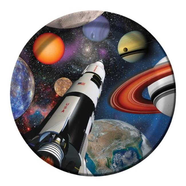 Hoffmaster Group 425533 9 in. Outer Space Paper Lunch & Dinner Plates - 8 per Case - Case of 12 - image 1 de 1