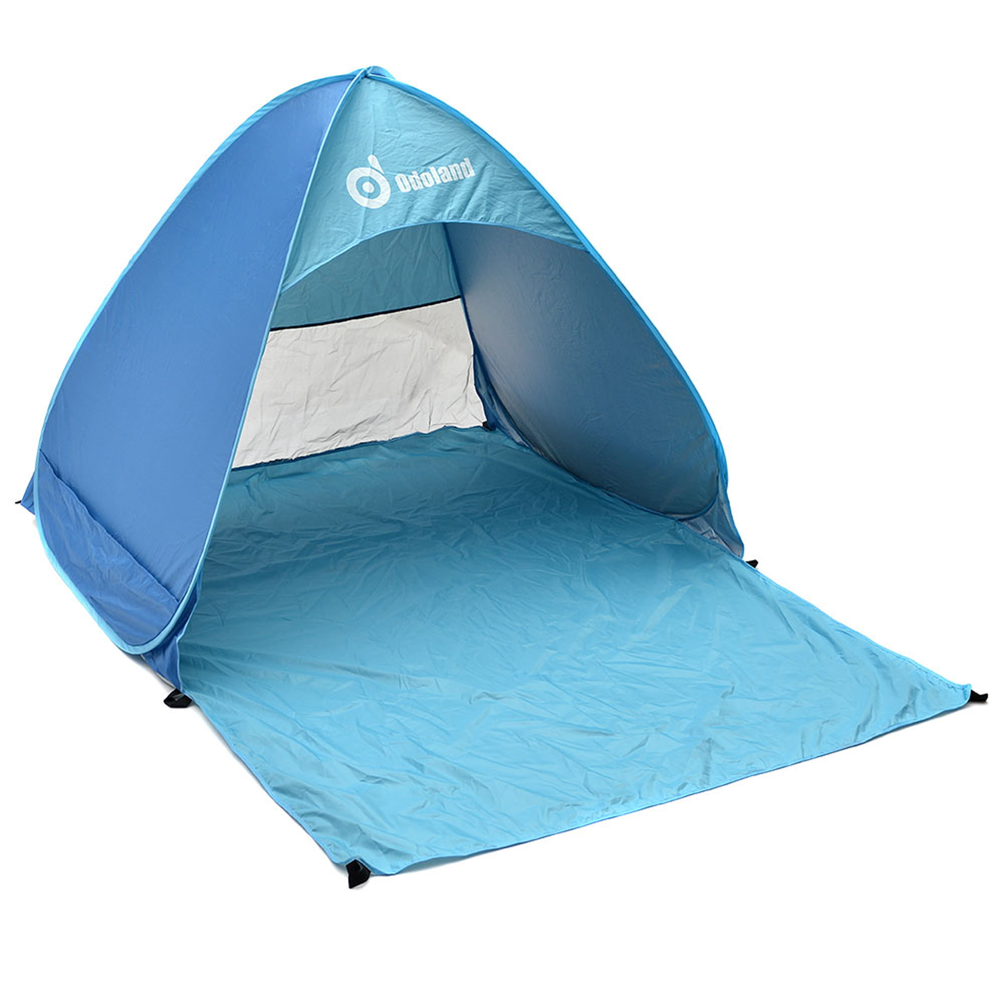 Instant Portable Outdoors Sunshade Basec& Folding Shelter Automatic Pop Up Cabana Beach Tent - Walmart.com  sc 1 st  Walmart & Instant Portable Outdoors Sunshade Basecamp Folding Shelter ...