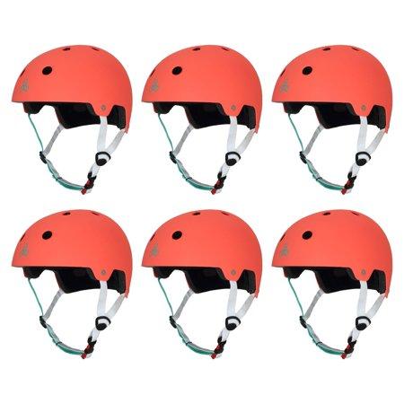 Triple 8 Dual Certified Skate Bike Small/Medium Helmet, Neon Tangerine (6 Pack) for $<!---->