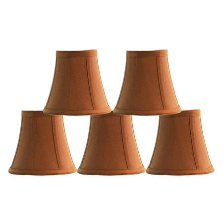 "Urbanest Copper Silk Bell Chandelier Lamp Shade, 3x5x4.5"", Set of 5"