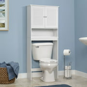 Gymax Bathroom E Saver Over The Toilet Shelved Storage Cabinet Organizer White