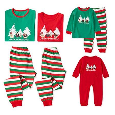 b5015386aa Ropalia - Ropalia Christmas Family Matching Pajamas Sets Dad Mom Kids  Sleepwear Outfits - Walmart.com