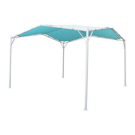 Christopher Knight Home Poppy Aluminum Gazebo Canopy Lightweight Water-Resistant Fabric Teal and Silver Perfect for Patio by