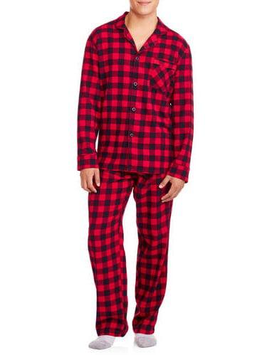 Plaid Adult Sizes New w//Tag Hanes Flannel 2pc Pajama Set Shirt /& Pants