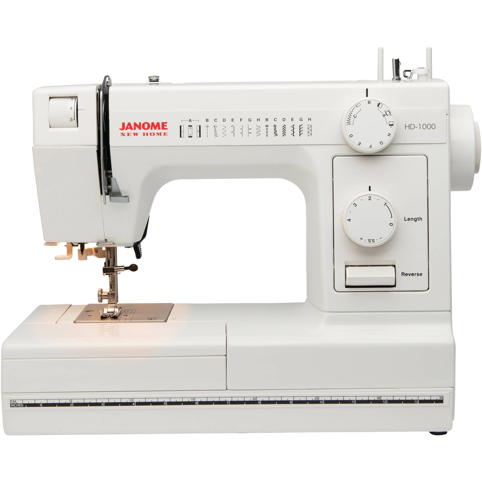 Janome 14-Stitch Heavy-Duty Sewing Machine, HD1000