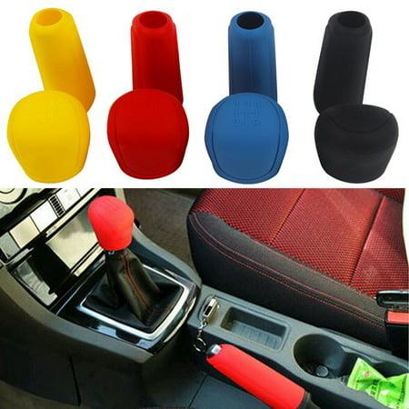 Girl12Queen Car Styling Handbrake Grips Interior Shift Collar Silicone Gear Knob Cover Tool