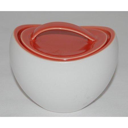Kate Spade Summer Circle Coral Sugar Bowl with Lid, Kate Spade Summer Circle Collection By Lenox