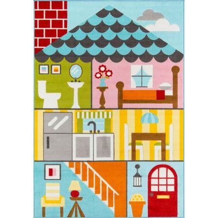 - Momeni Mini Mo Play House Multi Area Rug 4'11