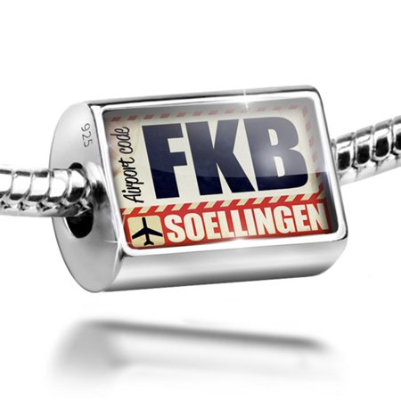 Bead Airportcode Fkb Soellingen Charm Fits All European Bracelets