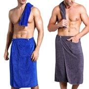 Hot Men´s Bath Wrap - Mens Terry Cloth Towel Bath Shower Wrap for Spa Salon
