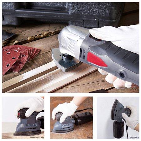 Mouse Detail Sander Sandpaper Pads Flocking Sanding Paper 6 Hole 180 Grits 5pcs - image 4 of 5