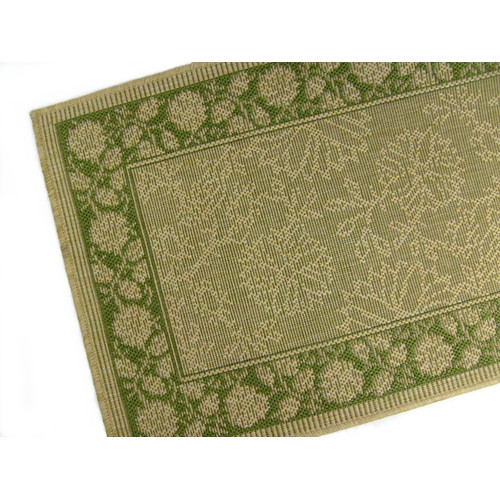 American Mills Summer Vine Honey/Emerald Indoor/Outdoor Area Rug